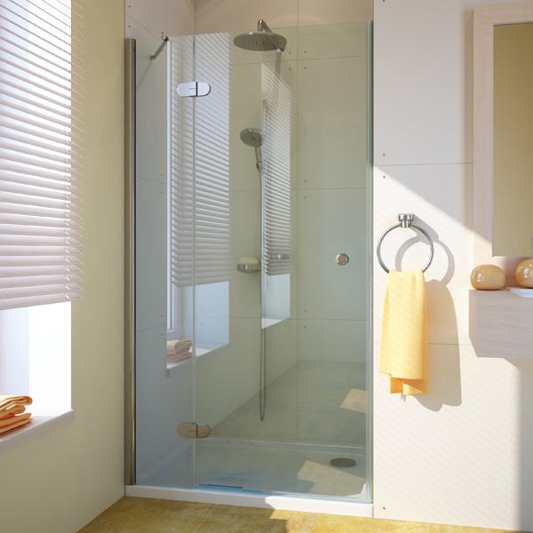 Душевая дверь в нишу GuteWetter Lux Door GK-102A правая 80 см стекло бесцветное, профиль хром сантехника мойка для ванной с тумбой